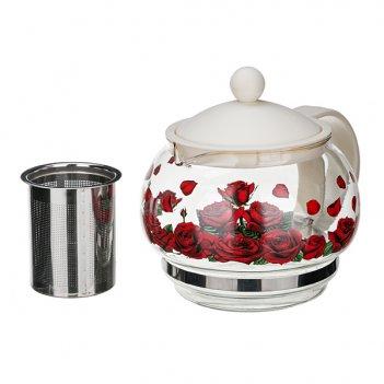 Чайник заварочный розарий 880 мл (кор=24шт.)