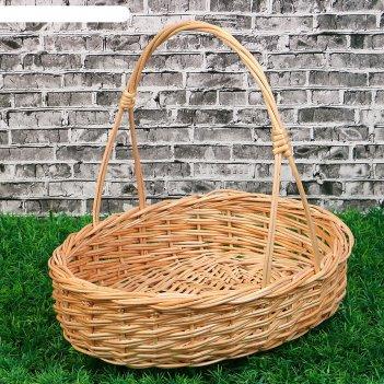 Корзина «карина», №2, дно:19x28 см, верх:34x28 см, h=8/40 см, ручное плете