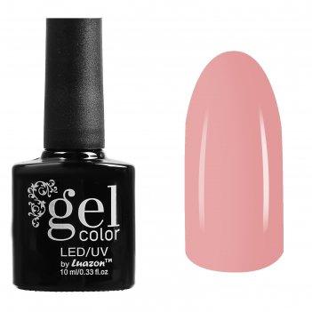Гель-лак для ногтей трёхфазный led/uv, 10мл, цвет в1-002 бледно-розовый