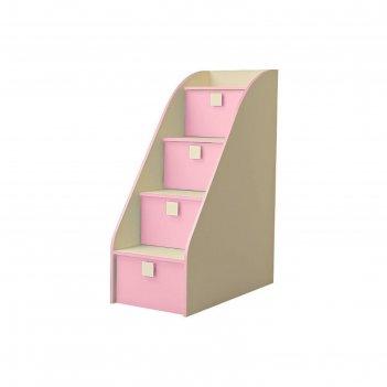Лестница металлическая радуга, фламинго, 484х1520х620