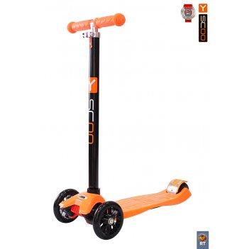 Самокат y-scoo maxi a-20 simple цв. orange