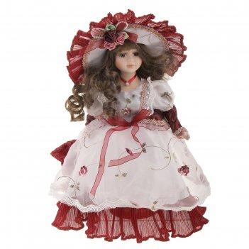 Кукла коллекционная изаура с зонтиком 30 см