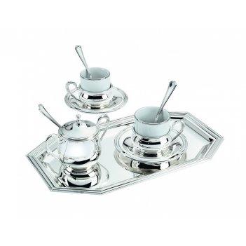 Малый кофейный сервиз с серебрением