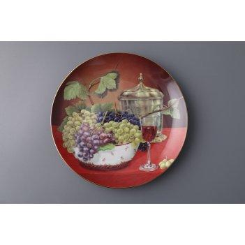 Тарелка настенная декоративная виноград диаметр=...
