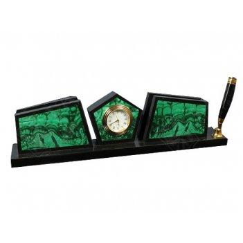 Настольный прибор часы и визитница