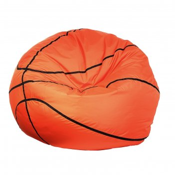 Кресло-мешок баскетбольный мяч, d110, цвет черный/оранжевый