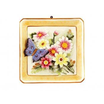 Тарелка настенная декоративная 20*21*2,5 см.