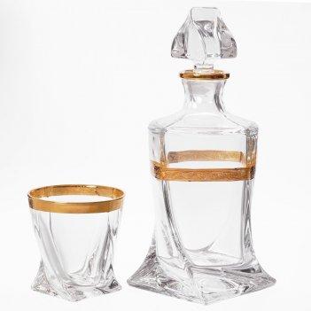 Набор для виски bohemia gold quadro 7 предметов