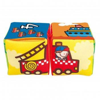Кубики музыкальные совмести-ка транспорт, мягкие