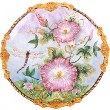 Тарелка декоративная настенная диаметр=21 см высота=3,5 см (кор=24шт.)