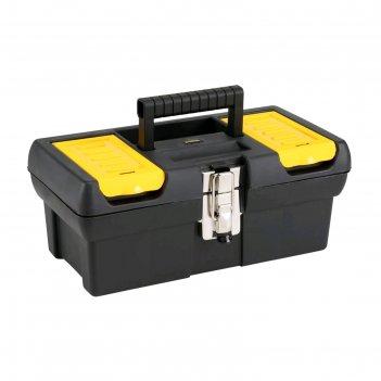 Ящик для инструментов stanley 1-92-064, 12.5, 2 органайзера, лоток, металл