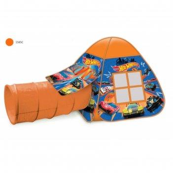 Детская палатка hot wheels с тоннелем 87x95x95,46x100см gfa-tonhw01-r