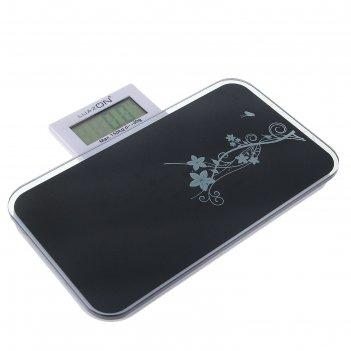 Весы электронные напольные luazon lvp-1802, до 150 кг черные