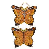 Часы настенные детские бабочки + фоторамка 9,5 x 13 см