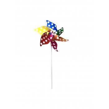 1toy ветрячок (длина 31см, диаметр 21см, пластик. ручка, цвета микс)