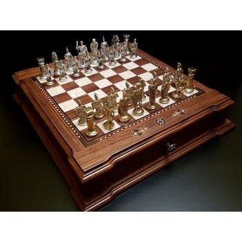 Шахматы подарочные цитадель орех антик