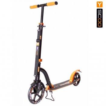 Самокат y-scoo rt 230 slicker deluxe new technology с амортизатором gold