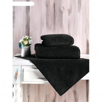 Полотенце mora 70x140 см, цвет черный