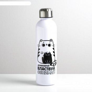 Бутылка для воды обнимай и властвуй, 700 мл