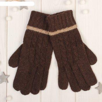 Перчатки женские далия, размер 16 (р-р произв. 8), цвет коричневый