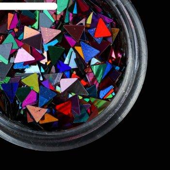 Пайетки для ногтей бан треугольники микс пакет qf