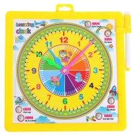 Доска для рисования маркером двухсторонняя, оборот часы, маркер, цвет желт