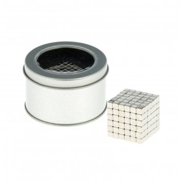 Антистресс магнит неокуб 216 кубиков 0,4х0,4х0,4 см (серебро)