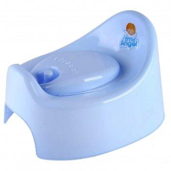 Горшок детский im (с крышкой), цвет пастельно-голубой
