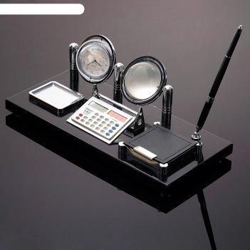 Набор настольный 6в1(глобус, часы, калькулятор, блок д/бумаги, скрепочница
