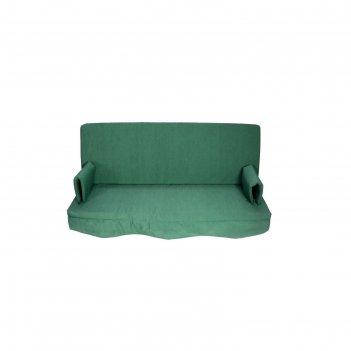 Матрас для садовых качелей цельный, зеленый 160