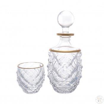 Набор для виски 7 предмета aurum crystal  cooper