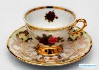 Набор для кофе мокко роза(чашка110мл.+блюдце) на 6перс.12п