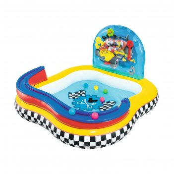 Игровой центр бассейн mickey mouse (4 кольца, 6 шаров) 157х157х91 см, от 3