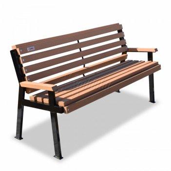 Скамейка с композитом «модерн» 1,5 м