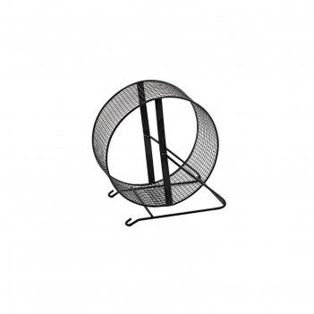 Колесо для грызунов металлическое, сетчатое, 25 см, черный