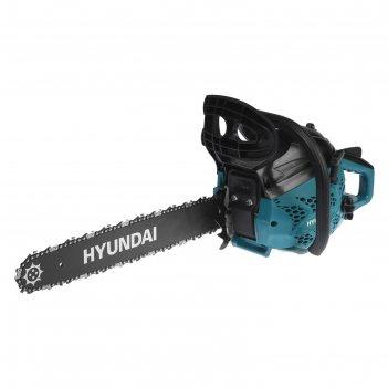Бензопила hyundai х 4118, 2т, 2 квт, 2.7 л.с., 18, шаг 3/8, паз 1.3 мм, 64