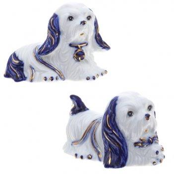 Фигурка декоративная собачка, 11х6х8 см, 2 в