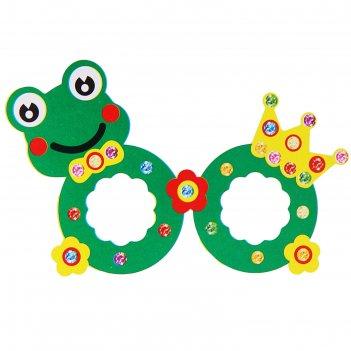 Набор для творчества создай очки - лягушка