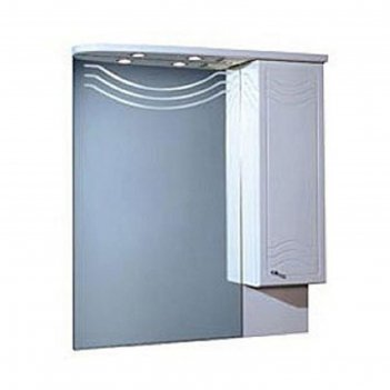 Зеркало со шкафом акватон домус10-2 правое 1084*880*178 белое