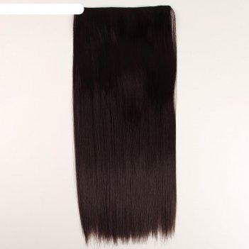 Накладные волосы на заколках, 25 x 60 см, цвет чёрный