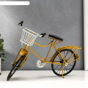 Сувенир металл велосипед с корзинкой микс 20х30х7,5 см