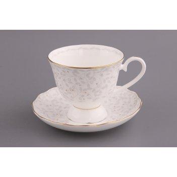 Чайный набор вивьен на 1 персону 2 пр. 300 мл. высота=9 см. (кор=16набор.)