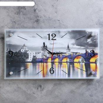 Часы-картина настенные мост, 52х26 см