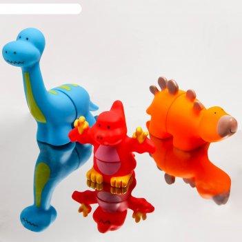 Игрушка-пазл для ванны «динопарк-2», набор 3 шт.