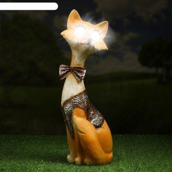 Садовый светильник лис джентельмен на солнечной батарее, 32 см