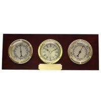 Метеостанция (барометр, термометр) с композицией время, l2...