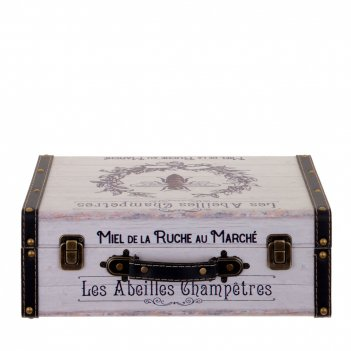 Шкатулка чемодан, l35 w26 h12,5 см