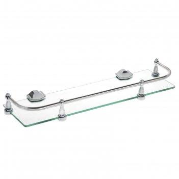 Полка для ванной с ограничителем, 40 см зеркальный блеск