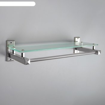 Полка для ванной комнаты 40x14,7x8,5 см, металл, стекло