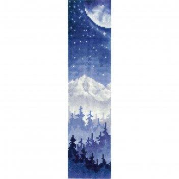 Набор для вышивания «закладки. луна над лесом»